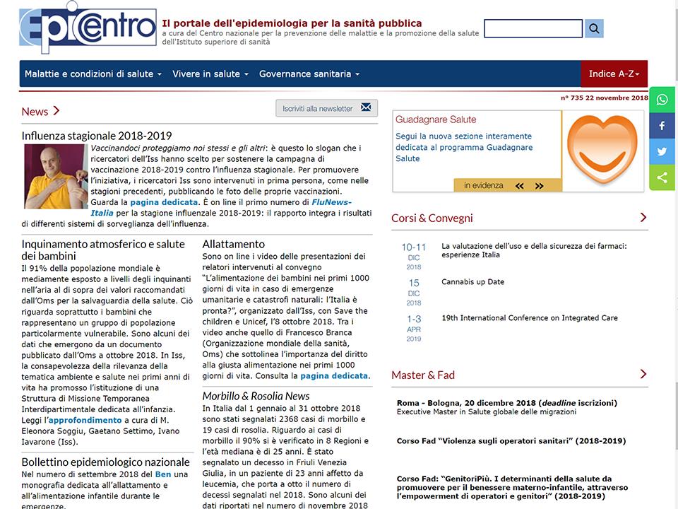 Epicentro portale dell'epidemiologia | Zadig