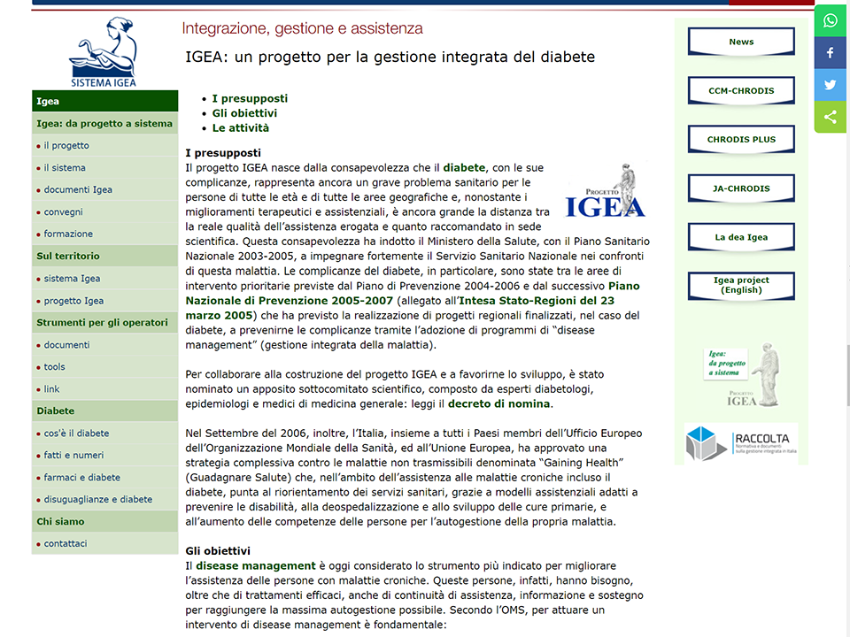 sito del progetto IGEA | Zadig