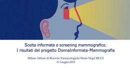 Scelta informata e screening mammografico. I risultati del progetto DonnaInformata-Mammografia